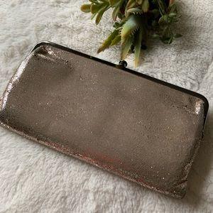 Hobo Lauren Clutch Wallet Silver Leather